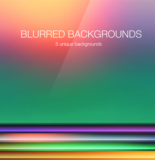 Colored Blurred Vector Background Art 03 For Free Download