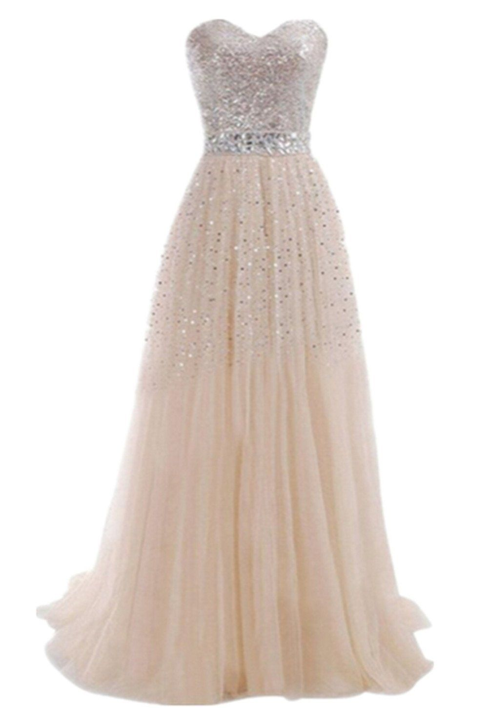 3f689f9ca763 Sequins Long Formal Prom Dress Cocktail Party Ball Gown Evening Bridesmaid  Dress at Amazon Women's Clothing store: