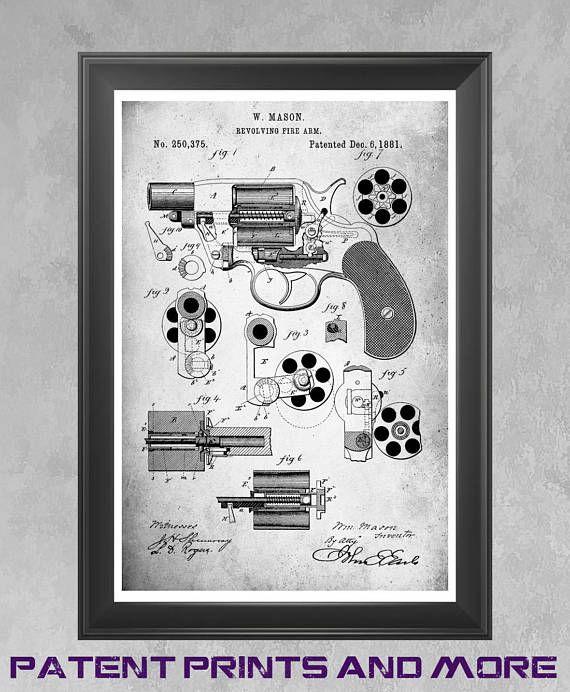 1881 Colt Revovler Poster, Colt Revolver Patent, Colt Poster, Colt ...