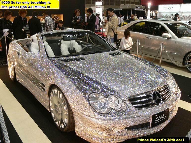 Diamond covered mercedes of prince al waleed of saudi for Mercedes benz saudi arabia