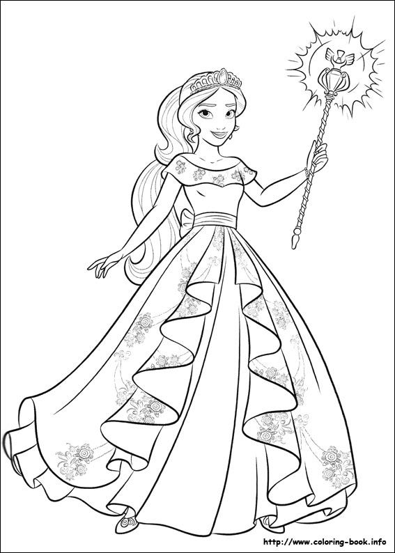 Adulting coloring pages ~ Elena of Avalor coloring picture | Disney Coloring ...