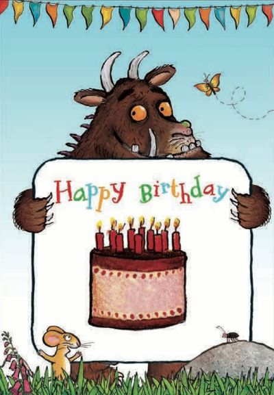 Happy Birthday The Gruffalo Birthday Card From Woodmansterne