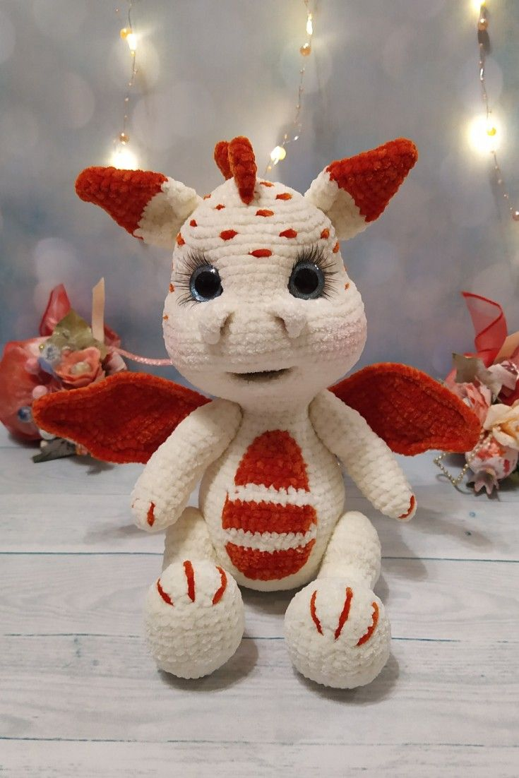 DRAGON PLUSH for baby. Dragon baby as a gift for her. Plush toys stuffed dragon.   #handmadetoys