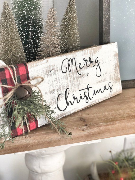 Buffalo Plaid Barnwood Sign
