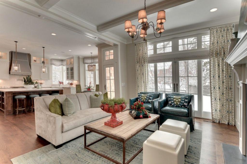 Beautiful And Cozy Living Room With Kitchen Combo Makety Gostinoj Stili Dlya Gostinyh Komnat Tradicionnaya Gostinaya