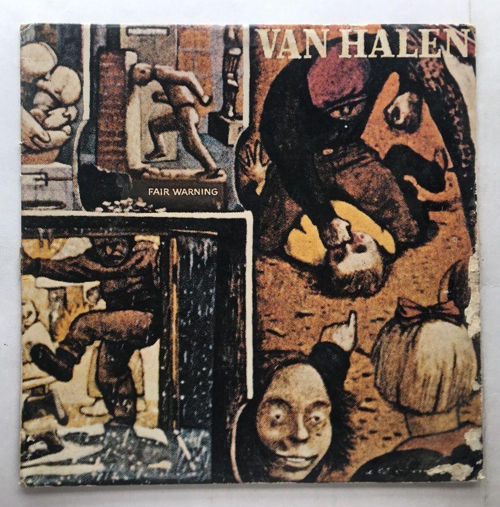 Van Halen Fair Warning Vinyl 1981 Warner Bros Records Free Shipping Lp Hs 3540 With Images Van Halen Fair Warning Album Cover Art Rock Album Covers