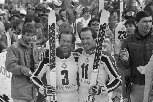 American Skiers Steve and Phil Mahre