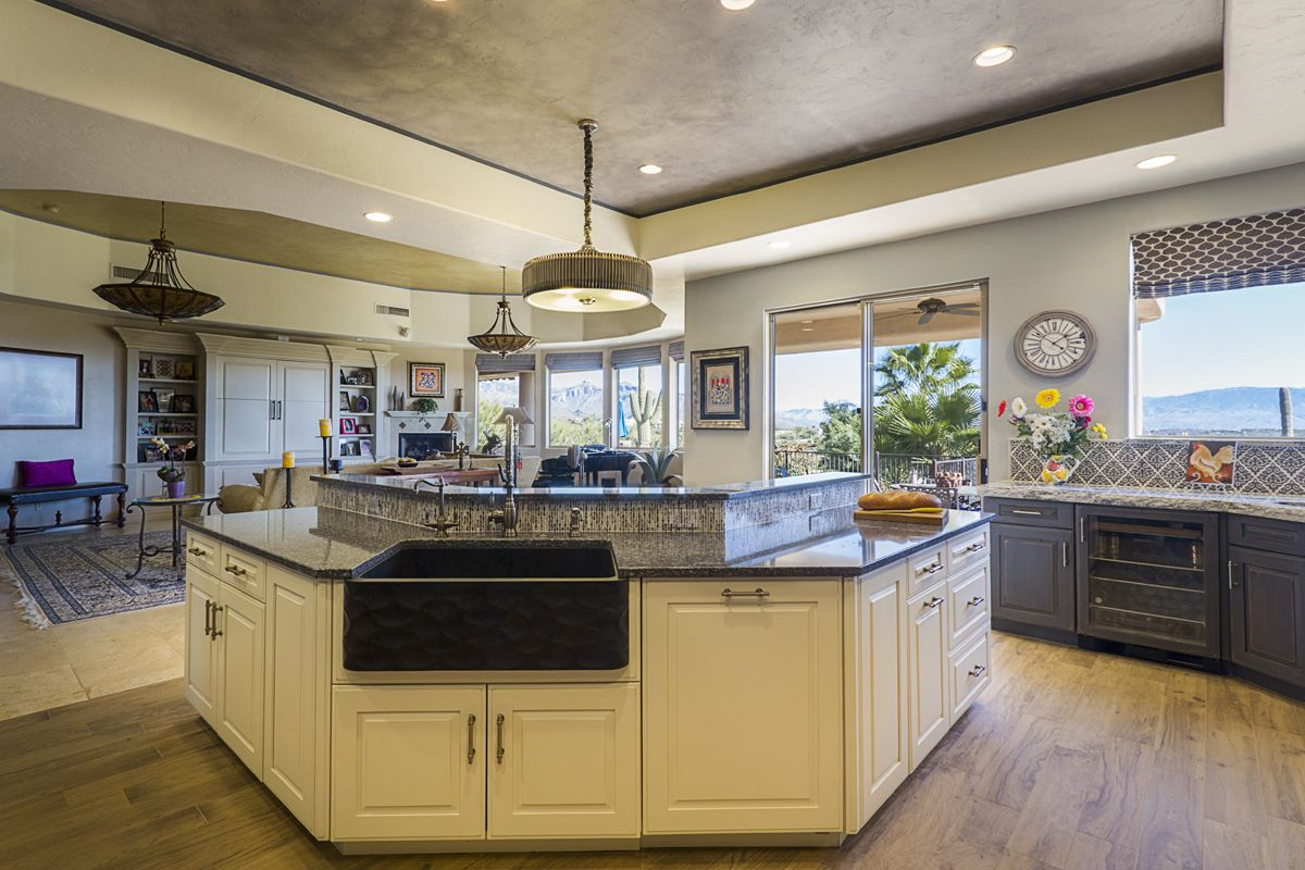Frameless kitchen cabinets with Portsmouth door style in ...