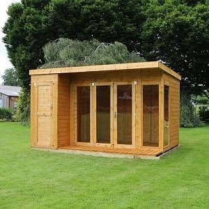 Rockport 12 x 8 Ft. Shiplap Summer House Sol 72 Outdoor Installation Included: No  - Size: 210cm H X 356cm W X 243cm D