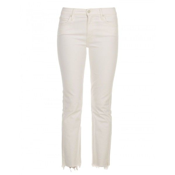Mother Jeans in Cotone Elasticizzato ($245) ❤ liked on Polyvore featuring jeans, white, white jeans and mother jeans