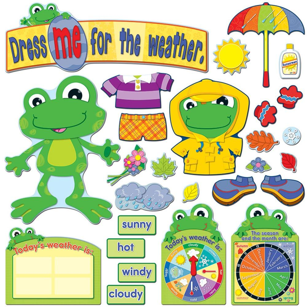 Funky Frog Weather Bulletin Board Set $12.99   FROGGY CLASSROOM ...