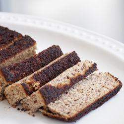 Paleo Banana Bread recipe, a great way to enjoy a classic without giving up the texture and flavor by going gluten free.