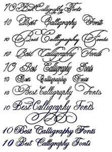 10 Best Calligraphy Fonts Tattoo Free Download Jockey