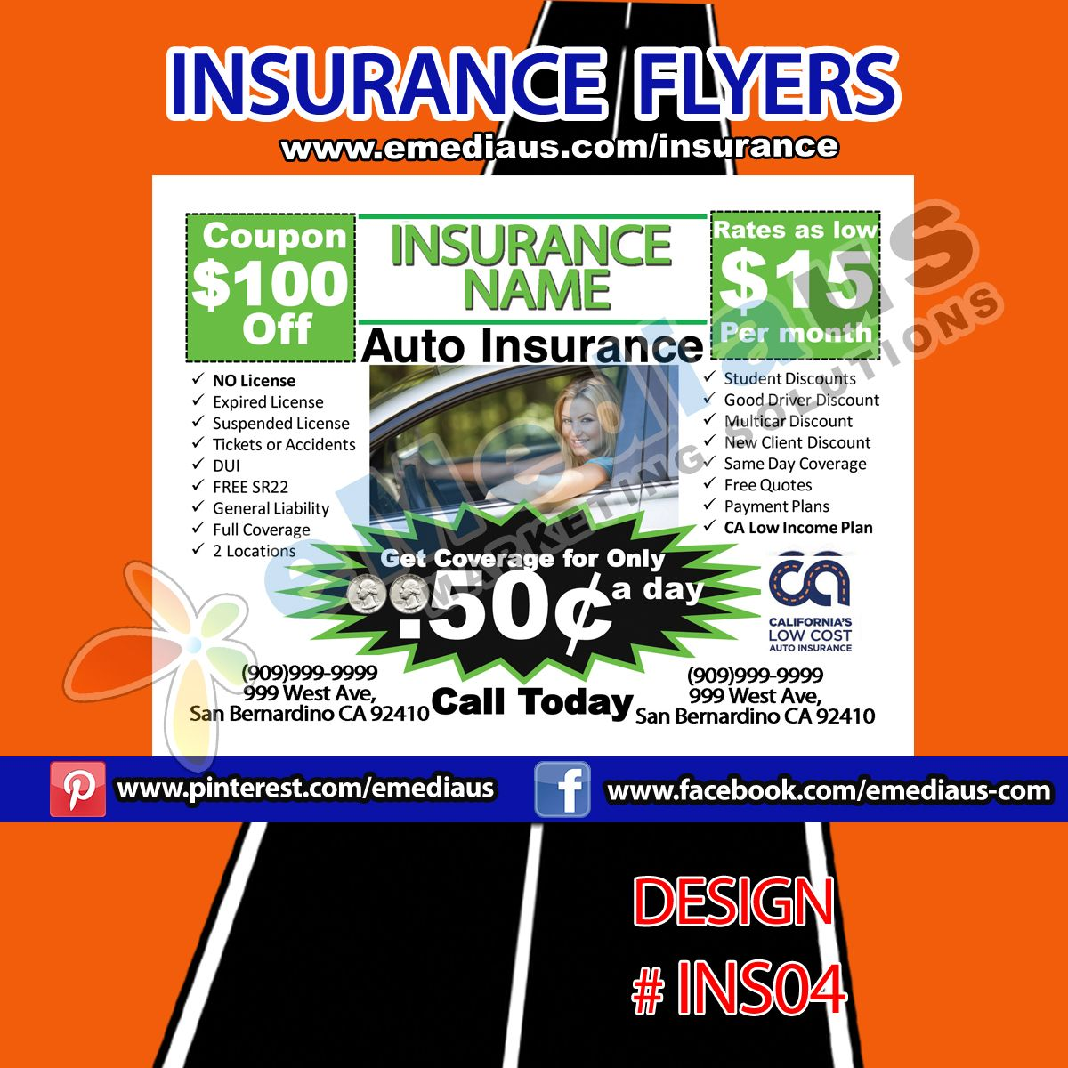 Flyer Design 04 (With images) General liability, Flyer