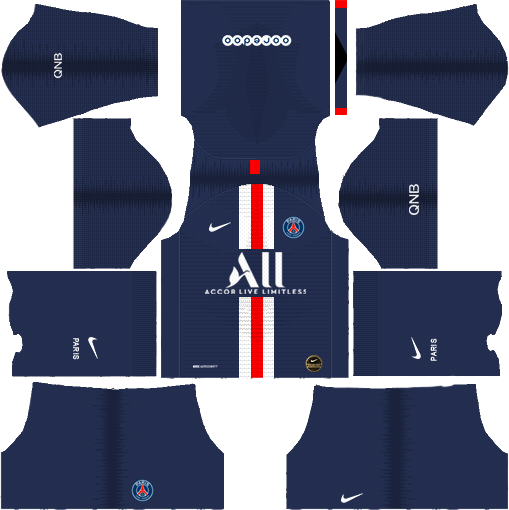 Psg 2019 2020 Kit Logo Dream League Soccer In 2020 Psg Soccer Kits Goalkeeper Kits