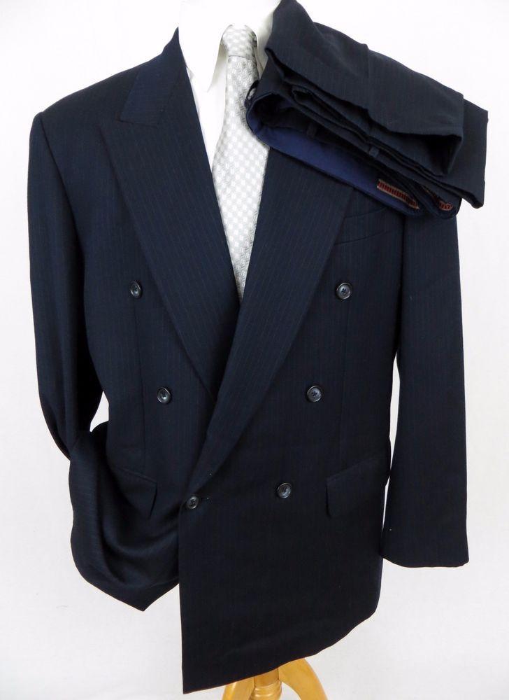 30ccdccb Ermenegildo Zegna TROFEO Suit 46R Super 100's Wool Double Breasted ...