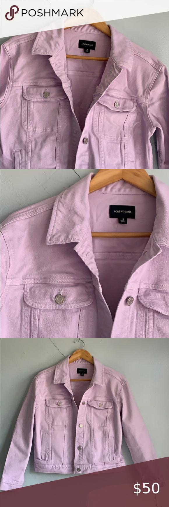 J Crew Lavender Denim Jacket 1st Measurement 21 1 2 2nd Measurement 19 Excellent Condition Like New J Crew Jacket In 2020 Jean Coat Denim Jacket Clothes Design [ 1740 x 580 Pixel ]