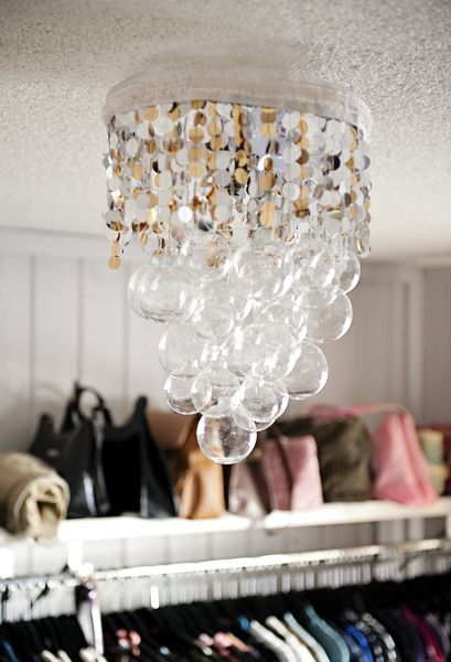 Make your own pretty handmade chandelier