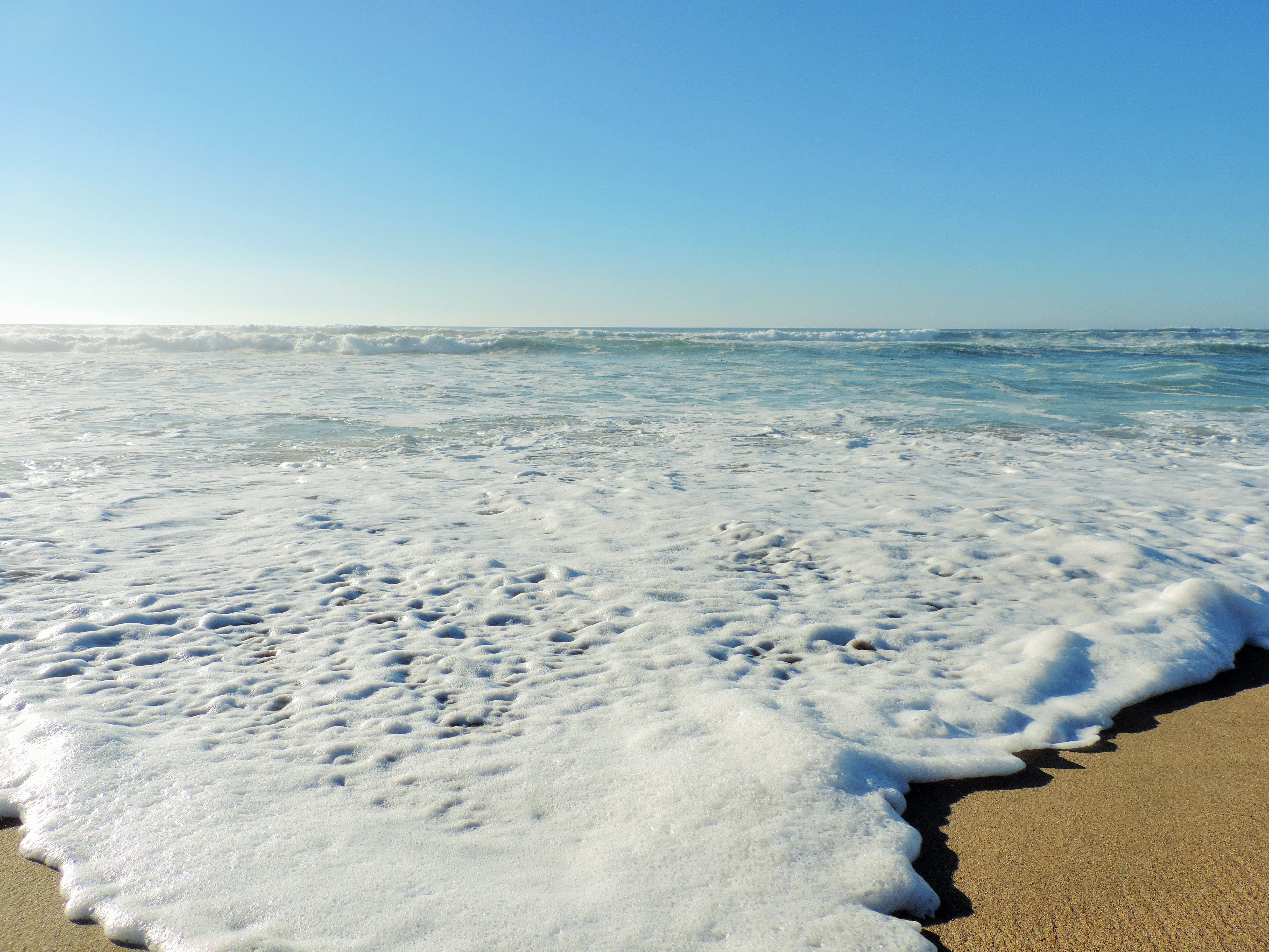 Day at the beach. I love the details of the waves.