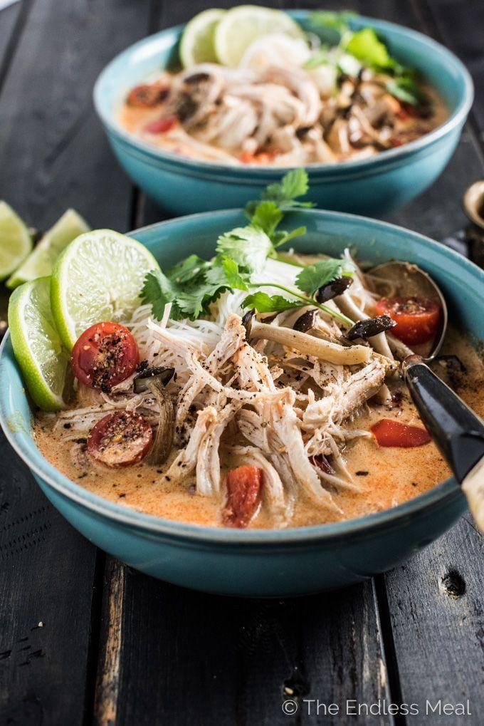 Crock pot thai chicken soup receta viva la gastronoma y comida forumfinder Gallery