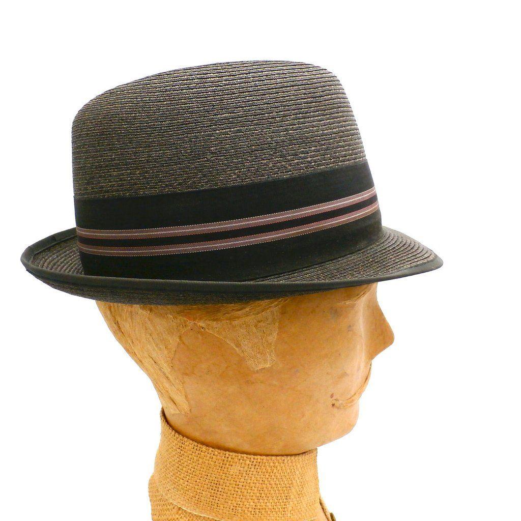 01efde967246a Vintage Mens Brown Straw Hat Wormser Stingy Brim Fedora 1960s Size 7 - The  Best Vintage Clothing - 1