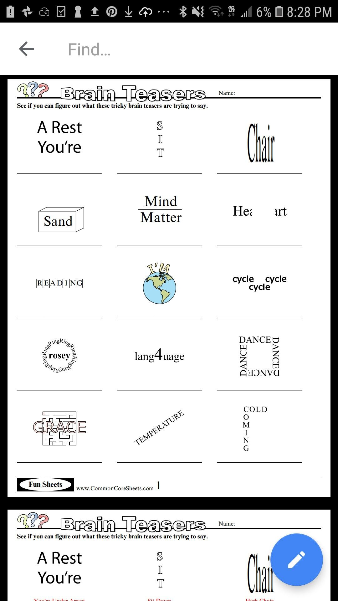 Pin by Koleka Sequeira on Classroom ideas Brain teasers