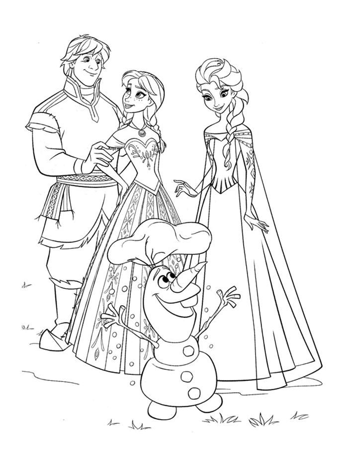 reine des neiges coloriage 45