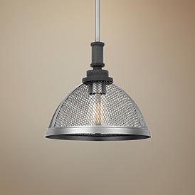 Awning 11 W Mottled Black And Brushed Nickel Mini Pendant 67r83 Lamps Plus In 2020 Mini Pendant Mottled Pendant