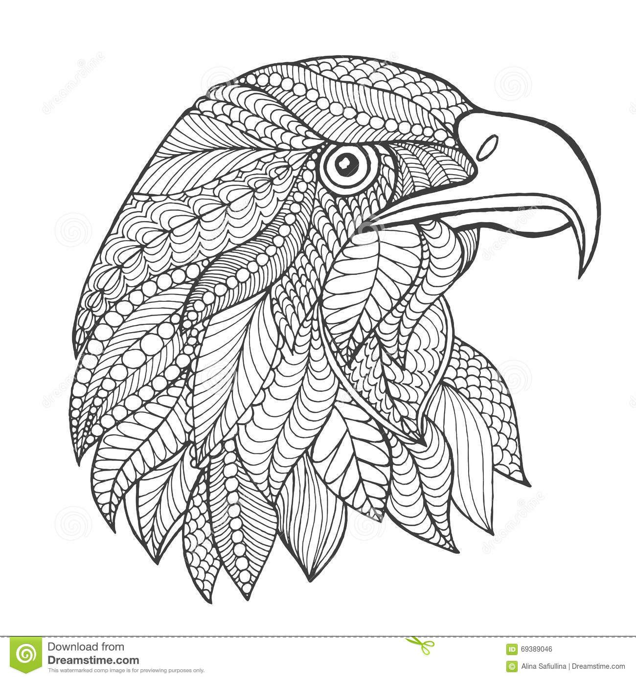 Eagles Mandala Coloring Pages Eagles Best Free Coloring