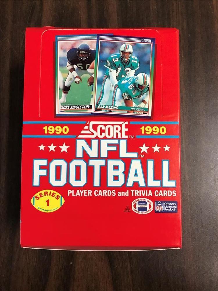 1990 score football series 1 wax box 36 unopened packs 16