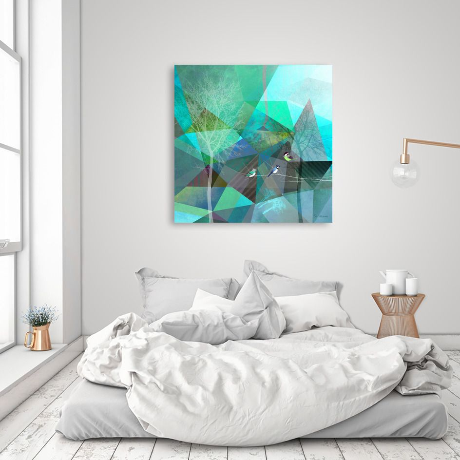 Birds p numbered edition acrylic glass print by pia schneider