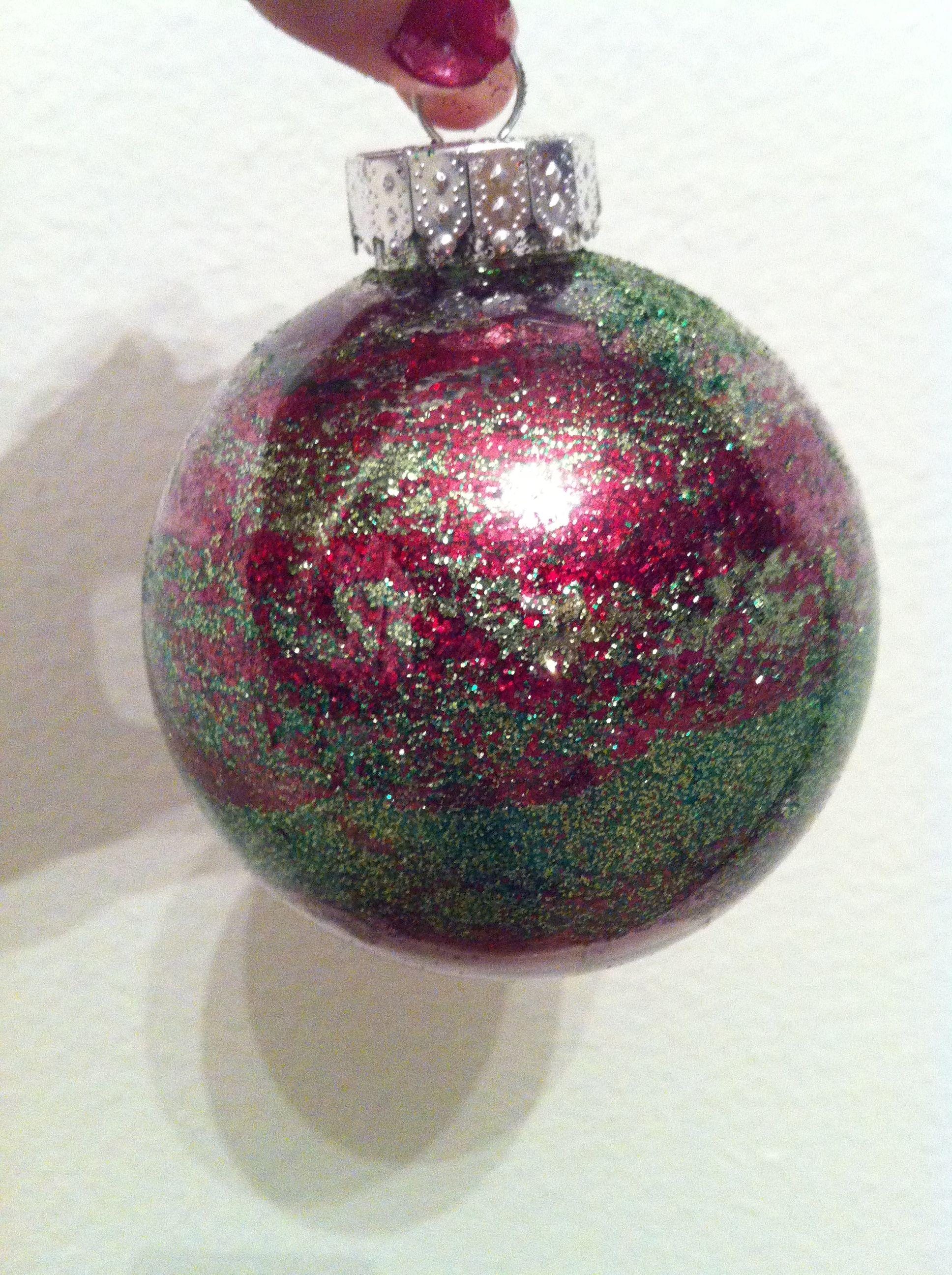 Homemade Glitter Christmas Ornament