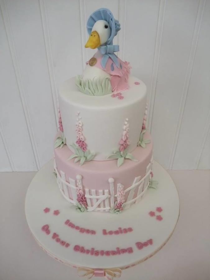 17b77928f1b2 Jemima Puddleduck by The Stables Pantry Beatrix Potter Cake, Christening  Cake Girls, Poppy Cake