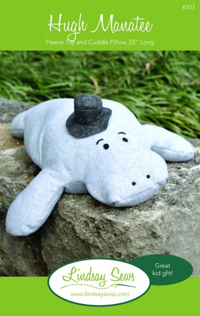 Hugh Manatee Stuffed Animal Sewing Pattern | Stuffed Friends ...