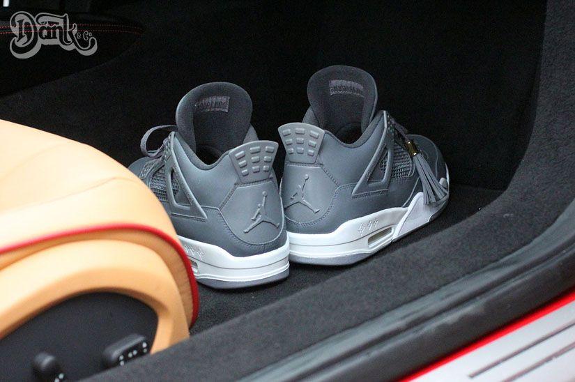 """84a2b1d3da66d8 Check out the Air Jordan 4 Louis Vuitton Don """"Anthracite"""" custom here!"""