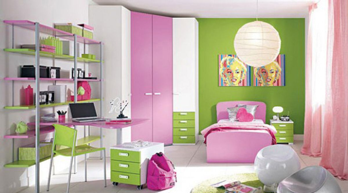Little Girl Room Decor Ideas Green And White Kids Girls Room Decor Ideas With High Style Corner