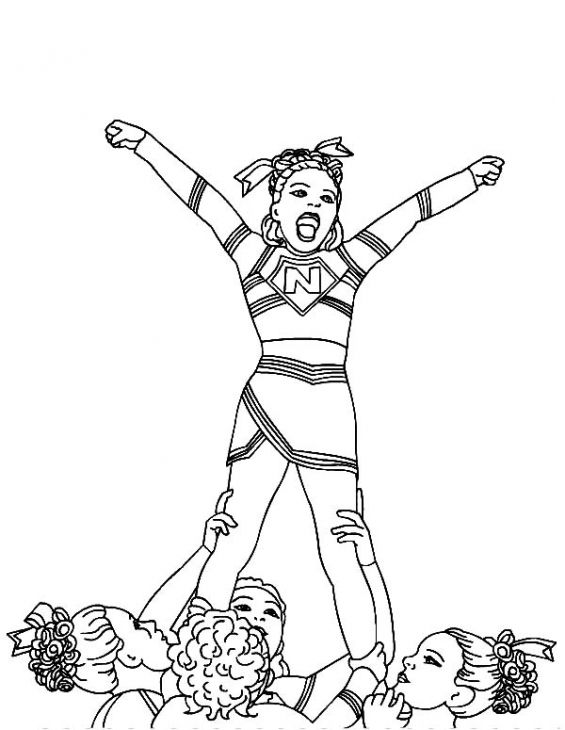 cheerleading coloring pages for grils - photo#15