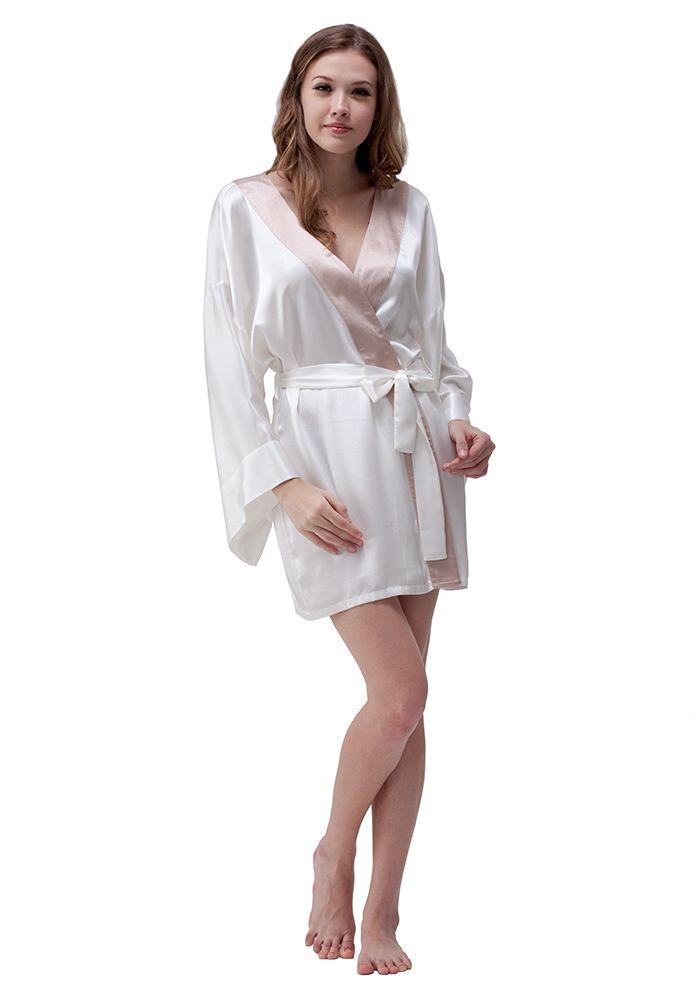 5664ca19f4bf Silk women nightwear robes--Ivory+Khaki robes  Silk  robes ...