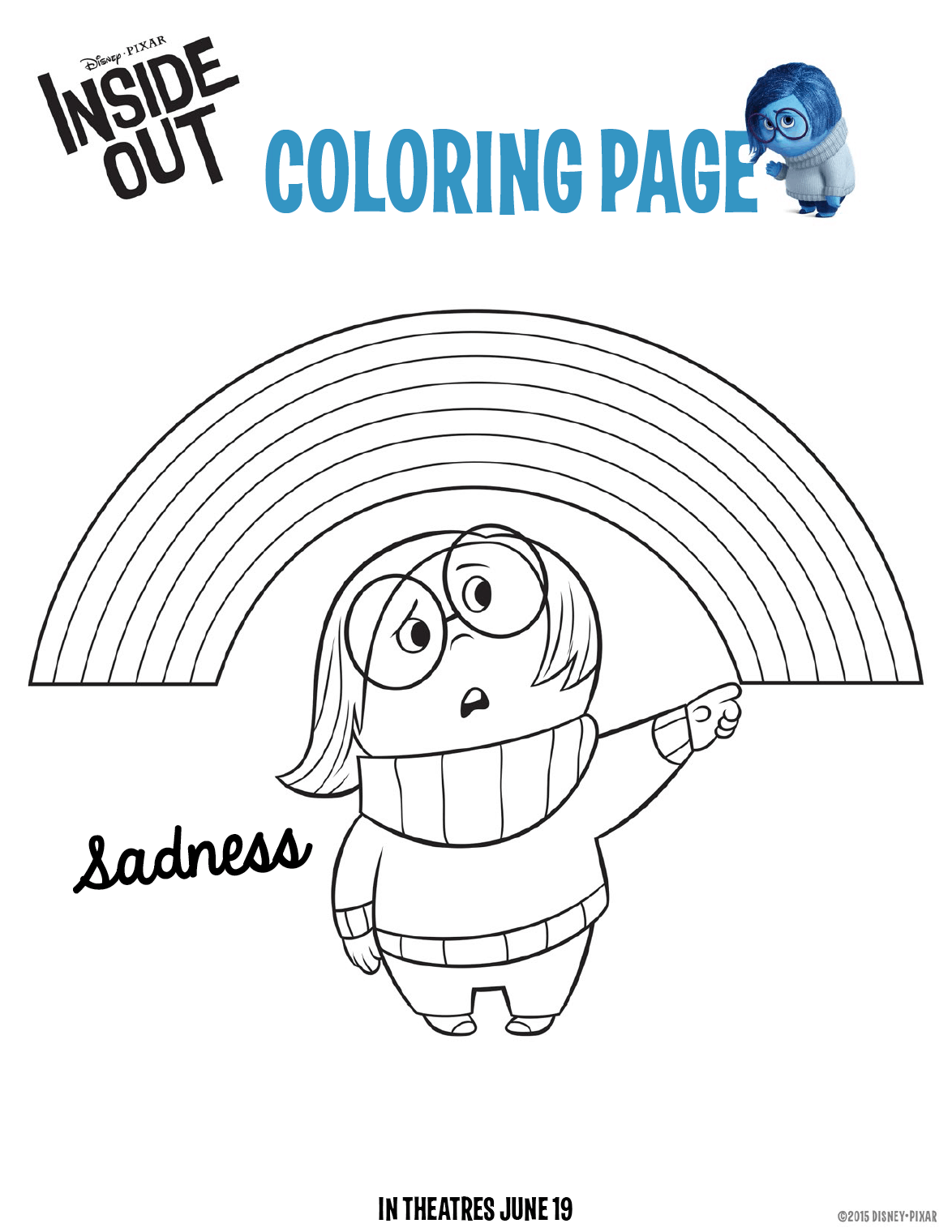 Inside Out Coloring Pages: Free Downloads For Kids #InsideOutEvent