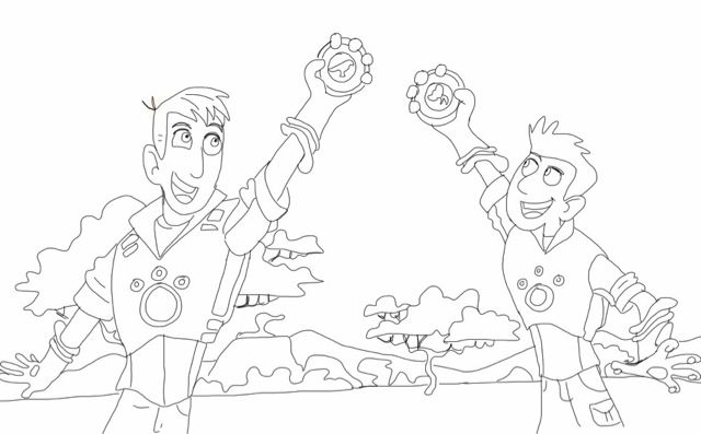 wild kratts coloring page