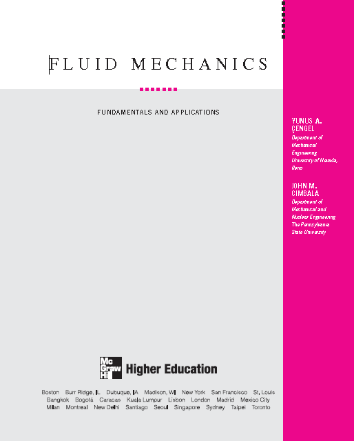Fluid Mechanics Cengel PDF | Mechanical Books | Fluid