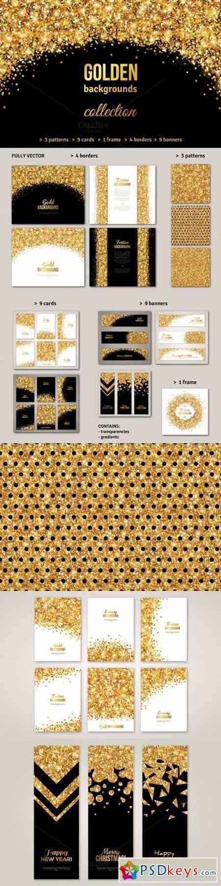 Gold Backgrounds Collection 670079   PSDkeys   Gold background