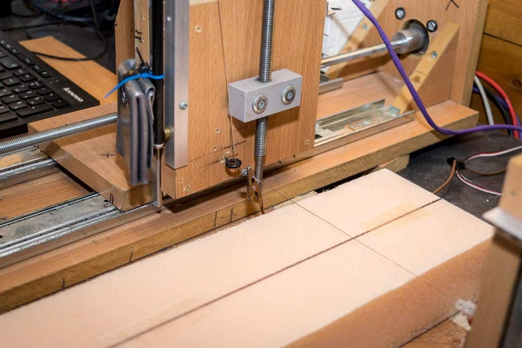 How to build a hot wire cnc foam cutter parallel port