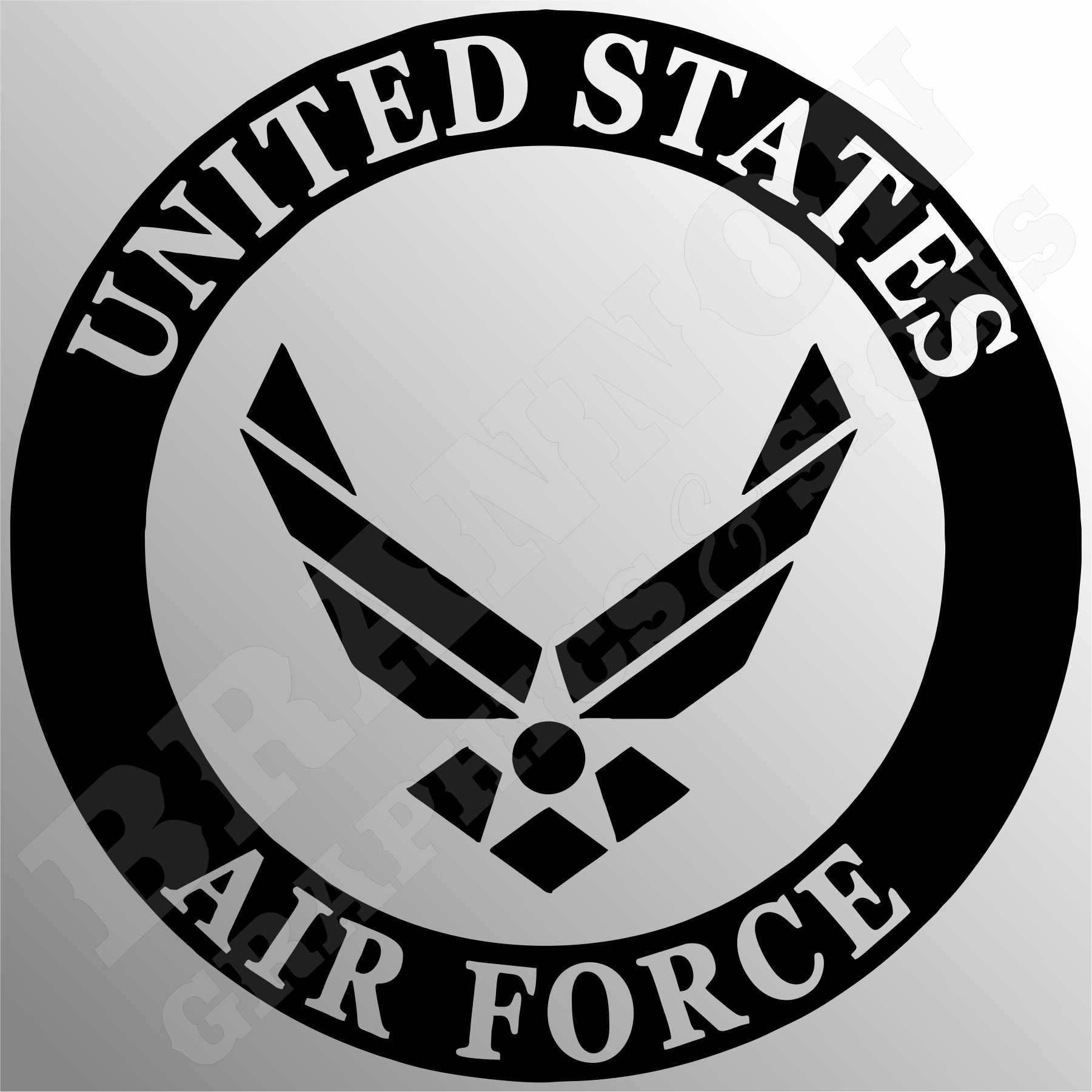 quotUS Air Force Logoquot Military themed design that can beU.s. Air Force Logo Black And White