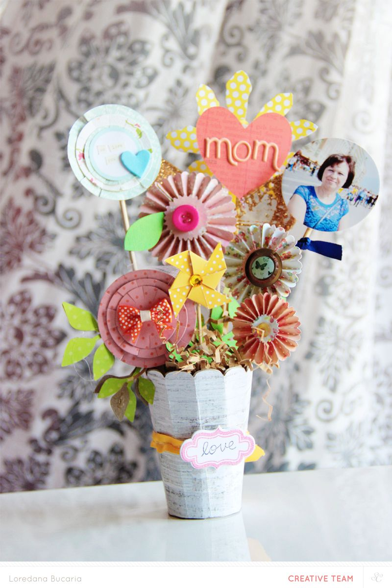 Pretty floral bouquet  Paper Crafts  Pinterest  Scrap and Craft