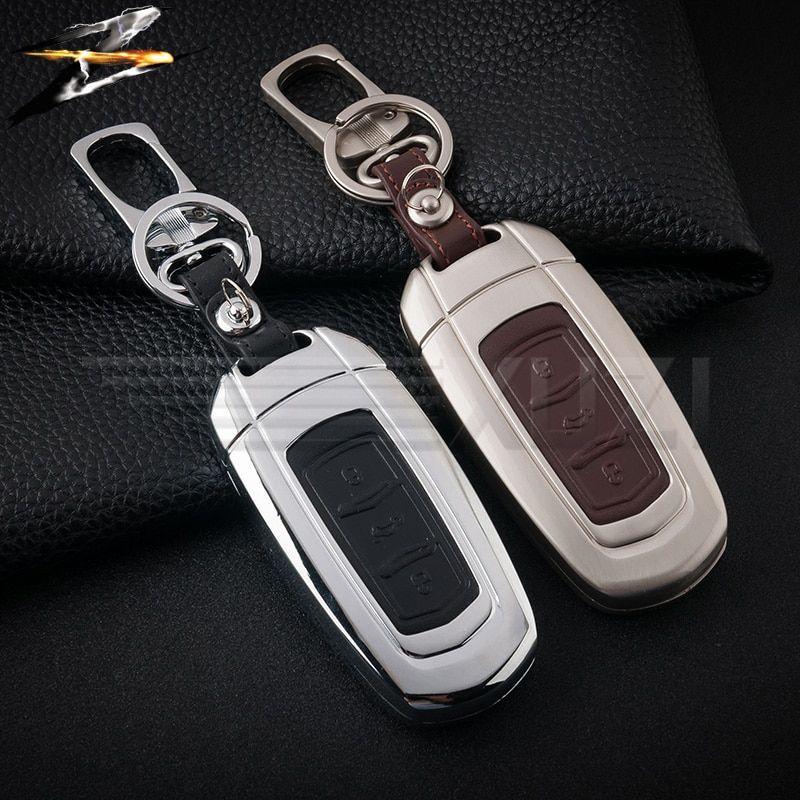 Zinc Alloy Leather Car Remote Key Case For Geely Atlas Boyue Nl3 Ex7 Emgrand X7 Emgrarandx7 Suv Gt Gc9 Borui Review Leather Key Case Key Covers Leather Fob