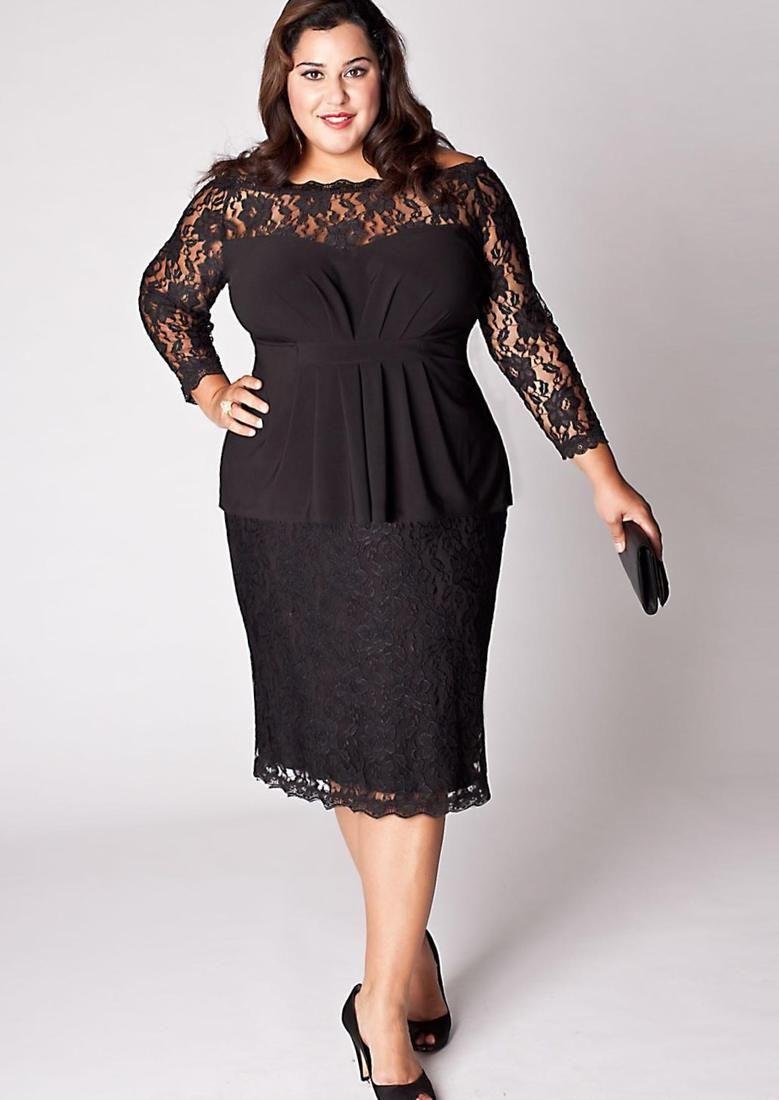 5f4324bdfa3 Plus size woman dress - http   pluslook.eu fashion plus
