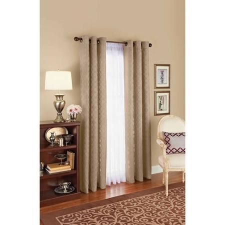 Elegant Better Homes And Gardens Diamond Jacquard Curtain Panel   Walmart.com