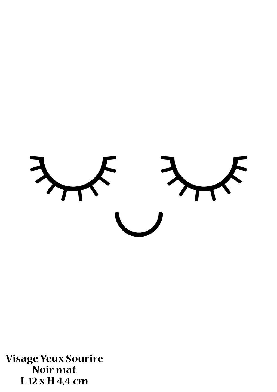 Motif visage yeux bouche sourire en flex thermocollant - Dessin de bouche a imprimer ...