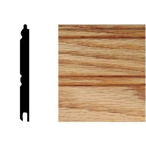 House Of Fara 5/16 In. X 3 1/8 In. X 32 In. Red Oak Tongue And Groove  Wainscot (1 Piece)